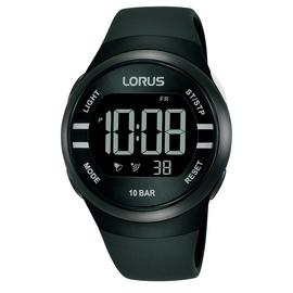 Lorus Digital Black Strap Watch