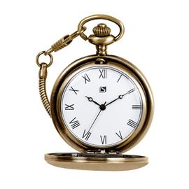 Spirit Men's Brushed Brass Pocket Watch