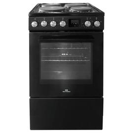New World NWLS50SEB Single Oven Electric Cooker - Black Best Price, Cheapest Prices