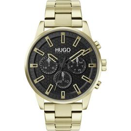 HUGO Men's Chronograph Gold Plated Bracelet Watch