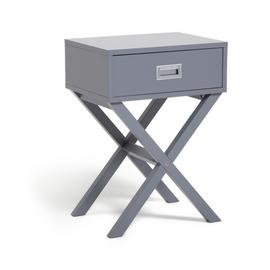 Argos Home X Frame Bedside Table - Grey