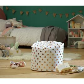 Argos Home Rose Gold Polka Dot Bean Bag