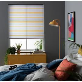 Argos Home Striped Daylight Roller Blind - Mustard and Grey