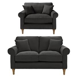 Argos Home William Fabric Chair & 2 Seater Sofa - Charcoal