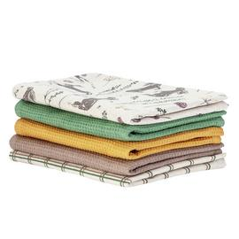 Argos Home Moorlands Pack of 5 Tea Towels