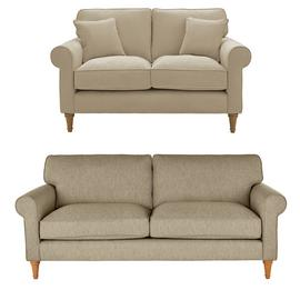 Argos Home William Fabric 2 Seater & 3 Seater Sofa - Natural
