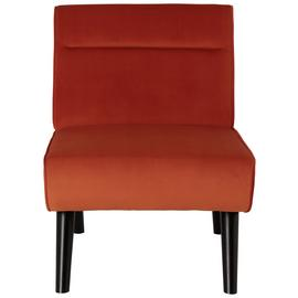 Habitat Rufus Velvet Accent Chair - Orange