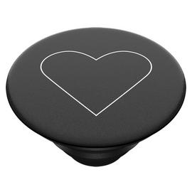 PopSockets PopGrip Phone Stand - White Heart Black
