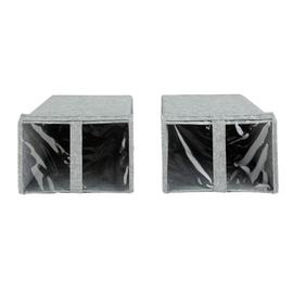 Argos Home 2 Pack Shoe Storage Boxes - Grey
