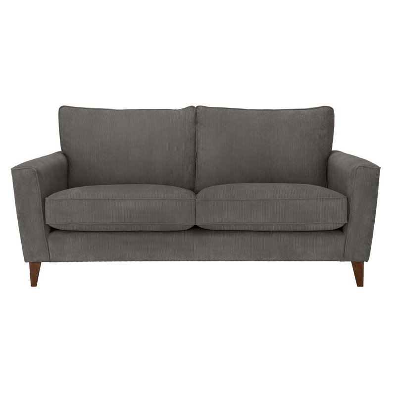 Argos Home Berlin 3 Seater Fabric Sofa - Charcoal from Argos