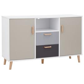 Delta 2 Door 2 Drawer Sideboard - White & Grey