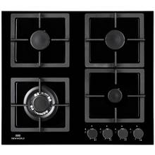 New World NWLEG60 Cast Iron Support Gas Hob - Black