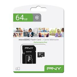 PNY Performance Plus microSD Memory Card - 64GB