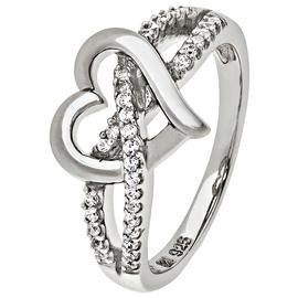 Revere Sterling Silver Cubic Zirconia Heart Ring