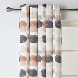 Argos Home Abstraction Pebble Fully Lined Eyelet Curtains