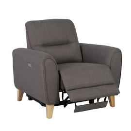 Habitat Tommy Fabric Recliner Chair - Grey