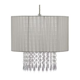 Argos Home Grazia Voile Droplet Shade - Grey