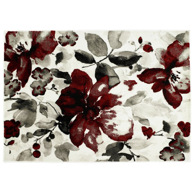 Buy Origins Watercolour Rug 120x170cm Red Rugs Argos