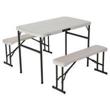 Lifetime Plastic 4 Seater Picnic Table - Almond