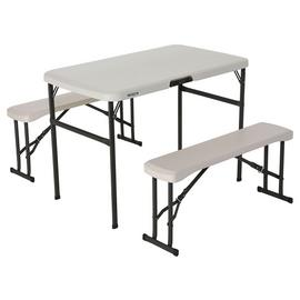 Lifetime Plastic 4 Seater Picnic Table - Almond