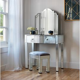 Argos Home Canzano Mirrored 2 Drawer Dressing Table Set
