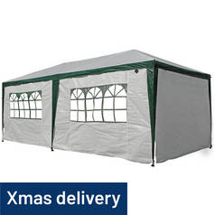 Argos Home 3m x 6m Gazebo with Weather Resistant Side Panels