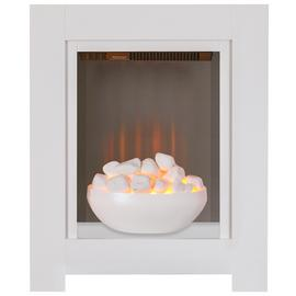 Adam Monet 2kW Electric Fire Suite - White