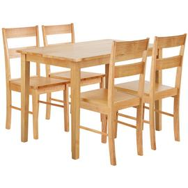 Argos Home Chicago Extendable Table & 4 Chairs - Natural