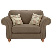 Heart of House New Windsor Fabric Cuddle Chair - Brown