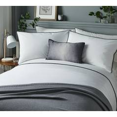 Serene Pom Pom Grey Bedding Set - Double