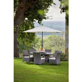 Argos Home Seychelles 6 Seater Rattan Effect Patio Set -Grey