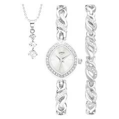 Limit Ladies' Silver Colouerd 3 Piece Watch Gift Set
