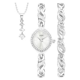 Limit Ladies' Silver Coloured 3 Piece Watch Gift Set