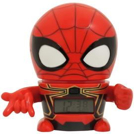 BulbBotz Marvel 2021692 Avengers: Infinity War Iron Spider Kids Night Light Alarm Clock with Characterised Sound | Red/Black | plastic | 5.5 inches tall | LCD display | boy girl | official Best Price and Cheapest