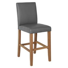 Argos Home Winslow Solid Wood Bar Stool - Grey