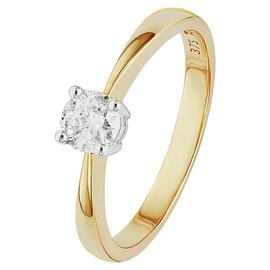 Revere 9ct Gold 0.33ct Diamond Solitaire Ring