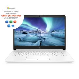 HP 14in AMD A4 4GB 64GB Cloudbook - White