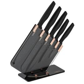 Tower 5 Piece Knife Block - Rose Gold and Black
