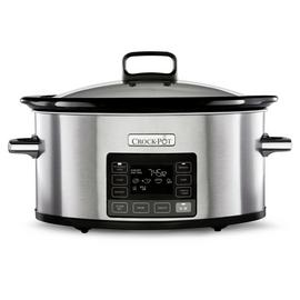 Crock-Pot 5.6L Time Select Slow Cooker - Stainless Steel