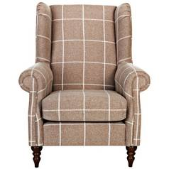 Argos Home Argyll Fabric High Back Chair - Mink