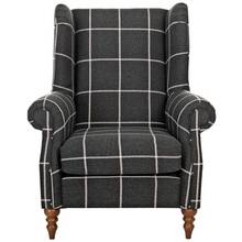 Heart of House Argyll Fabric Chair - Charcoal