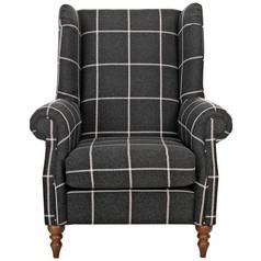 Argos Home Argyll Fabric Chair - Charcoal