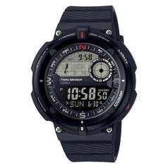 Casio Men's SGW-600H-1BER Twin Sensor Silicone Strap Watch