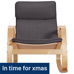 Argos Home Rocking Chair - Charcoal