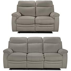 Argos Home Paolo 2 & 3 Seater Manual Recliner Sofas - Grey