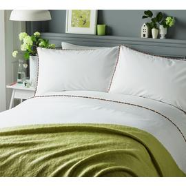 Serene Pom Pom Multicoloured Bedding Set - Double