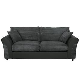 Argos Home Harry 3 Seater Fabric Sofa - Charcoal