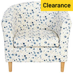 Argos Home Molly Fabric Floral Tub Chair - Blue