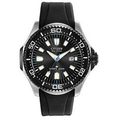 cdb7315cdd8 Citizen Eco-Drive Men s Black Silicone Rotating Bezel Watch