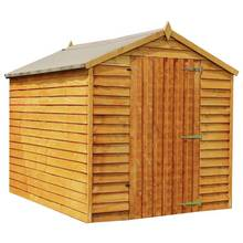 Mercia Wooden 8 x 6ft Overlap Windowless Shed